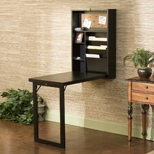 Blackpool Fold-Out Convertible Writing Desk in black