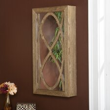 <strong>Wildon Home ®</strong> Juliann Wall Mounted Jewelry Armoire with Mirror