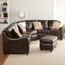 Beckett Synthetic Leather Sectional with Ottoman