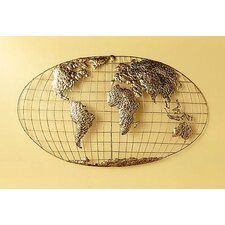 Poole World Map Wall Sculpture