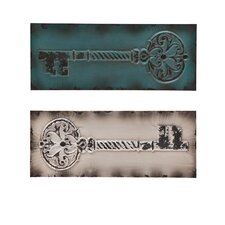 Wolfson Vintage Key Wall Panels (Set of 2)