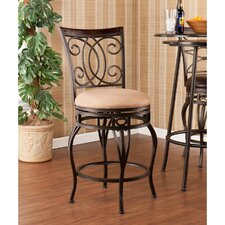 "Rodney 25.25"" Swivel Bar Stool with Cushion"