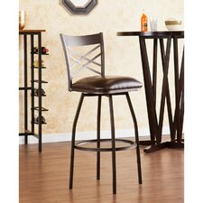 "Salem 24"" Adjustable Swivel Bar Stool with Cushion"