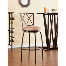 "Fairfax 24.5"" Adjustable Swivel Bar Stool with Cushion"