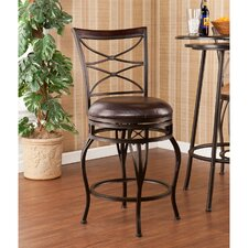 "<strong>Wildon Home ®</strong> Wellford 24.75"" Swivel Bar Stool with Cushion"