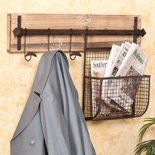 Hampton Entryway Wall Coat Rack with Storage