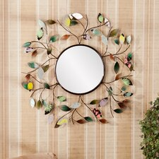 Bradshaw Decorative Metallic Leaf Wall Mirror