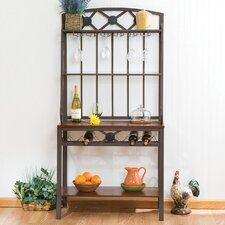 Marabella Decorative Baker's Rack with Wine Storage