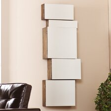 Toulouse Mirrored Wall Mount Storage Box (Set of 5)