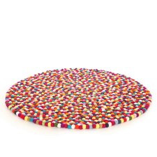 Happy as Larry Original Felt Ball Kids Rug