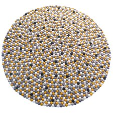 Happy as Larry Sunshine Felt Ball Kids Rug