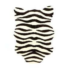Animal Ivory/Brown Zebra Rug