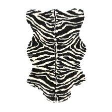 Animal Zebra Narrow Striped Area Rug