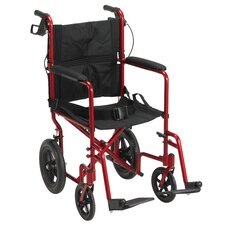 "19"" Ultra Lightweight Expedition Transport Bariatric Wheelchair"