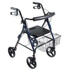 "DLite Rollator Walker with 8"" Wheels and Loop Brakes"
