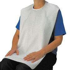 Lifestyle Terry Towel Bib Adaptive Clothing With Tie Closure