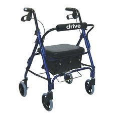 <strong>Drive Medical</strong> Junior Low Handle Rollator Walker with Padded Seat and Backrest