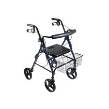 "D-Lite Aluminum Rollator Walker with 8"" Wheels and Loop Brakes"