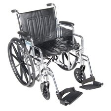 Chrome Sport Wheelchair and Anti-Tipper without Wheels