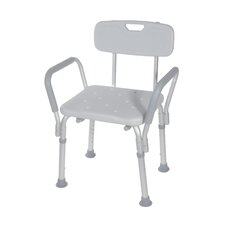 <strong>Drive Medical</strong> Bath Bench with Removable Padded Arms in White