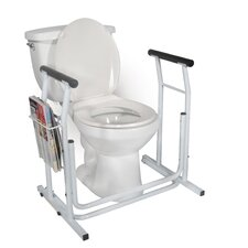 Stand Alone Toilet Safety Rail in White