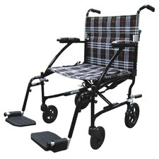 "Fly-Lite 19"" Lightweight Transport Wheelchair"
