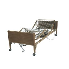 Full Electric Ultra Light Plus Hospital Bed in Brown Vein Finish