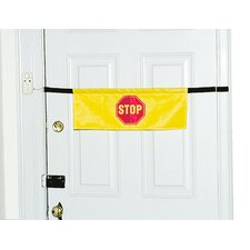 High Visibility Door Alarm Banner in Yellow