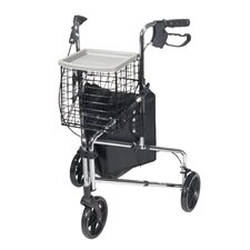 <strong>Drive Medical</strong> 3 Wheel Rollator in Chrome