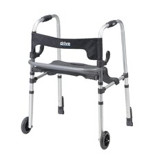 Clever-Lite LS  Walker with Seat and Push Down Brakes