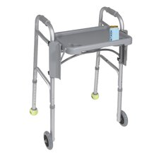 Folding Walker Tray in Gray