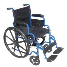 Blue Streak Wheelchair with Flip Back Desk Arms