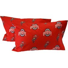 Ohio State Buckeyes King Pillow Case Set