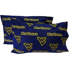 West Virginia Mountaineers King Pillow Case Set