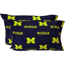 Michigan Wolverines King Pillow Case Set