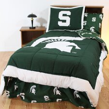 NCAA Michigan State Bed in a Bag - With White Sheets