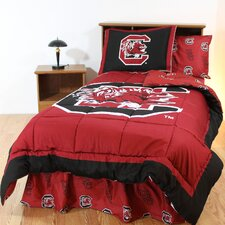 NCAA South Carolina Bed in a Bag - With White Sheets