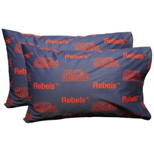 NCAA Mississippi Pillowcase (Set of 2)