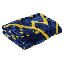 NCAA West Virginia Polyester Throw Blanket