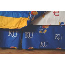 NCAA Kansas Dust Ruffle
