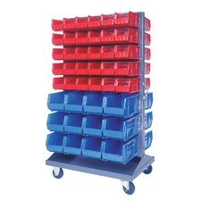 <strong>Quantum Storage</strong> Mobile Double Sided Louvered Rack with Various Bin Sizes (Complete Package)