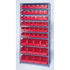"<strong>Quantum Storage</strong> 75"" H Giant Hopper Shelf Storage System with Various Bins (Complete Package)"