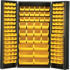 "<strong>Quantum Storage</strong> 36"" Wide Welded Storage Cabinet with 132 Ultra Bins"