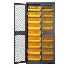 "Mesh Safe-View 78"" H x 36"" W x 18"" D Storage Cabinet"