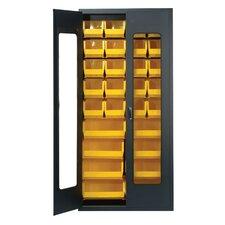 "Clear View 78"" H x 36"" W x 18"" D Storage Cabinet"