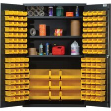 "<strong>Quantum Storage</strong> 48"" Wide Welded Storage Cabinet with 137 Ultra Bins"