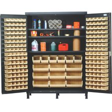 "84"" H x 60"" W x 24"" D Super Wide Heavy Duty Storage Cabinet"