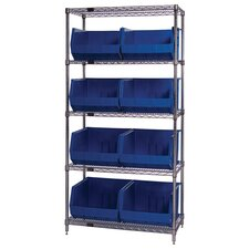 "18"" Q-Stor 5 Shelf Unit with Ultra Bins with Optional Mobile Kit"