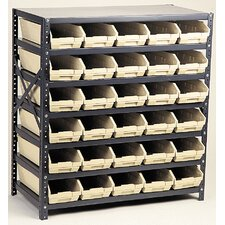 "Economy Shelf Storage Units (39"" H x 36"" W x 12"" D) with Small Bins"