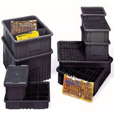"Conductive Dividable Grid Storage Containers (3 1/2"" H x 10 7/8"" W x 16 1/2"" D) (Set of 12)"